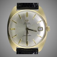 Mid Century Modern Omega 14K Gold Wrist Watch