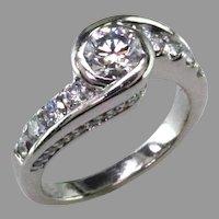 1 1/2 ct tw. Diamond and Platinum Engagement Ring