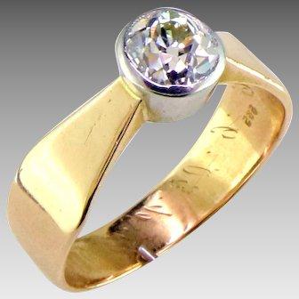 Art Nouveau Old European Diamond 14K Ring