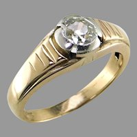 Jugendstil Old Mine Diamond 14K Platinum Ring