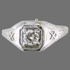 18K Art Deco Diamond Ring