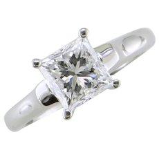 1.51 cts. I1-E Princess Cut Diamond Ring
