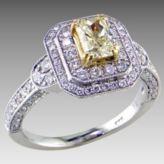 Fancy Light Yellow Diamond 14K/18K Ring