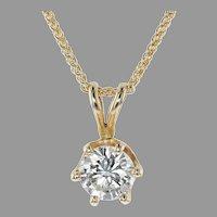 .84 ct. Diamond Solitaire 6 Prong Pendant