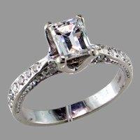 Emerald Cut Diamond 14K White Gold Ring