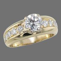18K Yellow Gold 1.32 ctw Diamond Ring