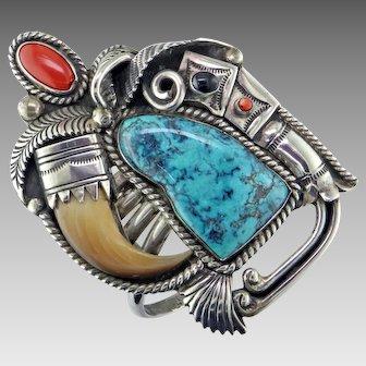 Carlos White Eagle Silver Bracelet