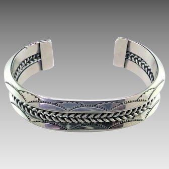 Navajo Twist Wire Sterling Silver Bracelet