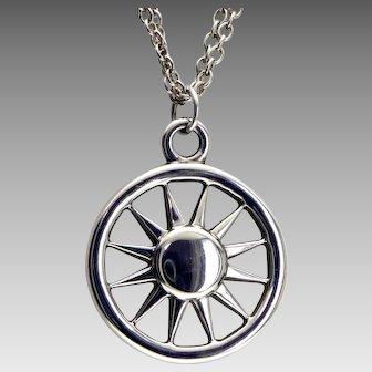 Tiffany Sun Sterling Silver Pendant