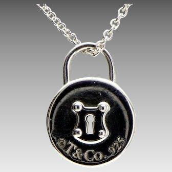 Tiffany Heart Lock Pendant Chain