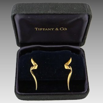 "Tiffany 18K  Gold ""Chrysalis"" Earrings by Paloma Picasso"