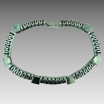 Taxco Niello Sterling Silver Necklace