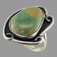 Navajo Turquoise Sterling Silver Ring
