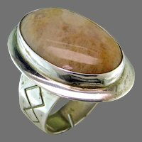 Fossil Coral Agate Sterling Silver Ring