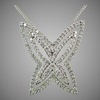 Chimento 18 Karat White Gold Diamond Butterfly Pendant and Chain