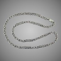 Silver Turkish Rope Style Chain