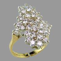 Fabulous 3 ct. tw. Diamond Waterfall 14K Gold Ring
