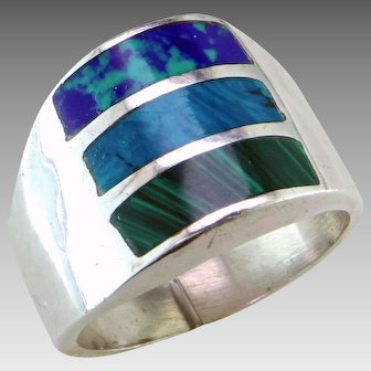 Goodspeed Taxco Inlay Sterling Ring