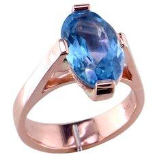 Aquamarine Rose Gold Ring