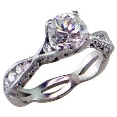 Tacori Diamond 18K White Gold Ring