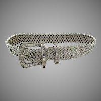 18K White Gold Diamond Buckle Bracelet