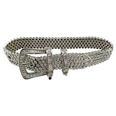 Diamond Buckle Bracelet 18K White Gold