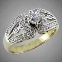 .65 Old European Diamond 18K Gold Ring