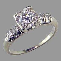 .50 ct Diamond  14 Karat White Gold Ring