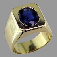 Sapphire 18K Yellow Gold  Ring