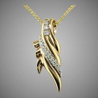 1/2 cttw  Diamond 14K Gold Pendant