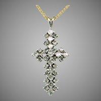 1/2 ct tw Diamond 14K White Gold Cross