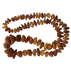 """Baltic Amber 28"""" Necklace"""