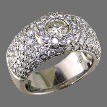Diamond Pave 18K ring