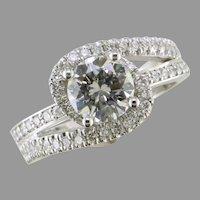 1.03 ct. D-VS2 18K White Gold Diamond Ring