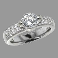 14K White Gold 1.02 ct. Diamond Ring