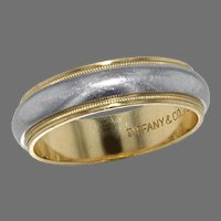 Platinum and18K Yellow Gold Tiffany Band