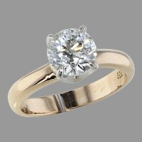 1.48ct. Old European Cut Diamond Solitaire Ring