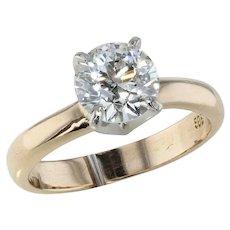 1.48ct. Old European Cut Diamond Solitaire Ring