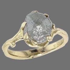 Yellow Gold Rough Diamond Ring