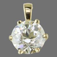2.00 ct. Old European Cut Diamond Crown Pendant