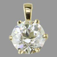 2.00 ct. Old European Cut Diamond Crown Pendant