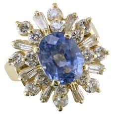 2.66ct. Sapphire & Diamond 14K Yellow Gold Ring