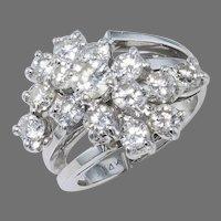 2 ctw. Diamond Cluster Ring