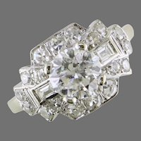 14K Art Deco Style Diamond Ring