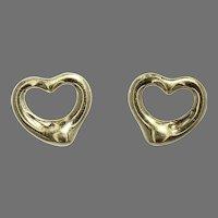 Elsa Peretti Tiffany & Co. Open Heart Earrings