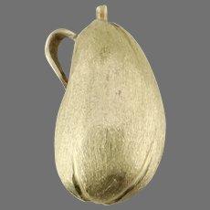 14K Yellow Gold Eggplant Pendant