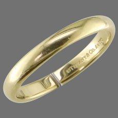 18K Yellow Gold Tiffany Wedding Band