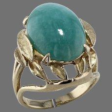 Yellow Gold Amazonite Ring