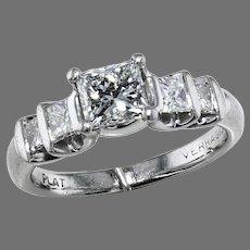 .96 ct. Princess Cut Diamond Ring