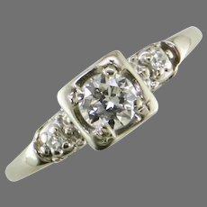 Mid Century Engagement Ring